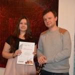 NAGRODA Magdalena Stój z Gimnazjum Katolickiego w Stalowej Woli