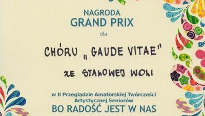 Gaude Vitae nagrodzony