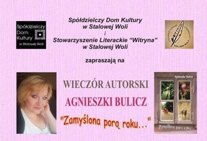 Wieczór autorski Agnieszki Bulicz