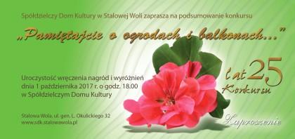 """25 lat konkursu """"Pamiętajcie o ogrodach i balkonach…"""""""